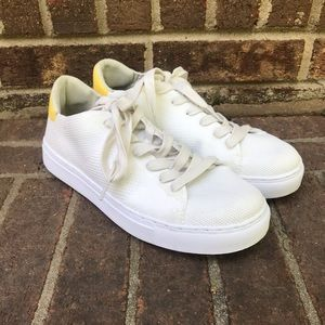 Greats Brooklyn Royale Knit Sneakers White/Yellow
